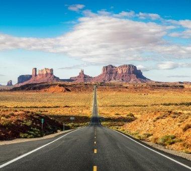 La route 163 de Monument Valley (Forrest Gump Point)