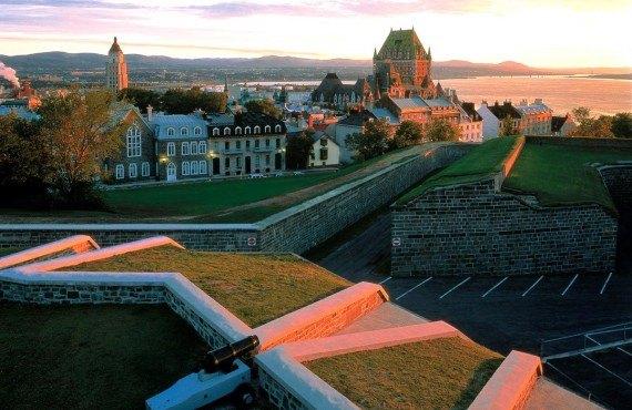 La citadelle de Québec et le château Frontenac