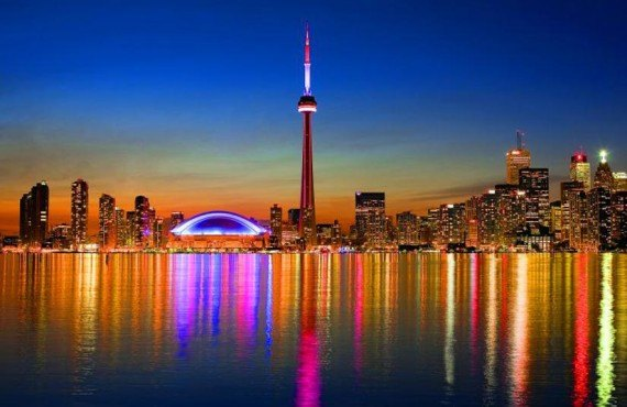 Coucher de soleil sur Toronto