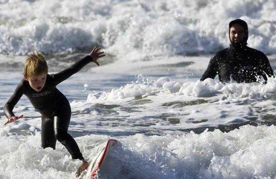 Cours de surf, Manhattan Beach