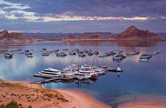 Le lac Powell, Page, AZ