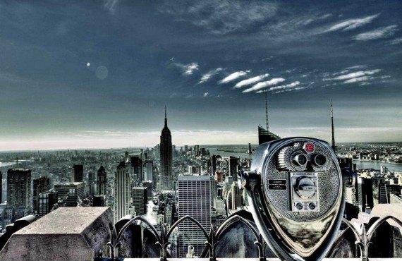 La vue du haut du Rockefeller, New York