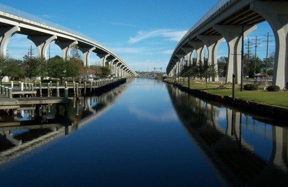 Un des ponts de la ville de Houma, Louisaine