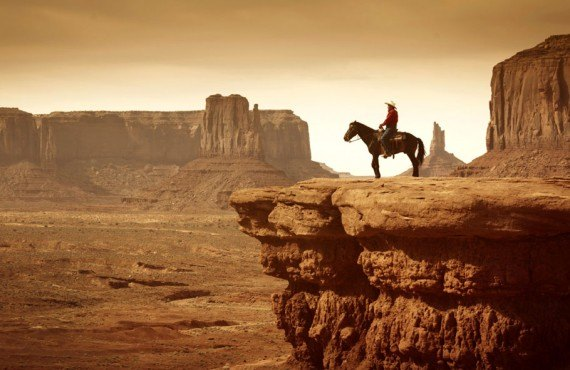 Cowboy de Monument Valley