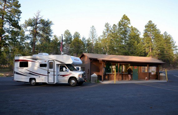 Accueil du camping Grand Canyon - Secteur Sud