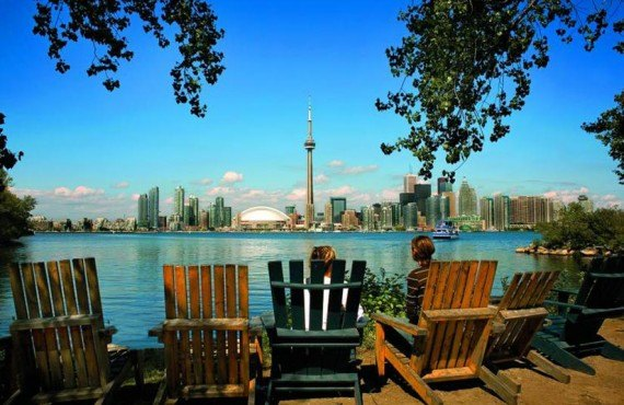 Centre-ville de Toronto vu des îles