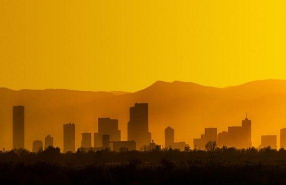 Coucher de soleil sur Denver
