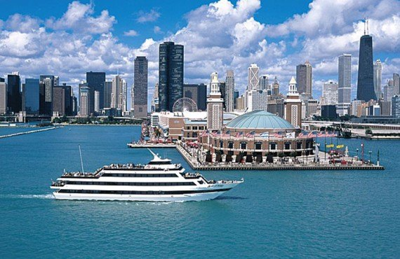 Déjeuner sur le Lac Michigan, Chicago, IL - Navy Pier