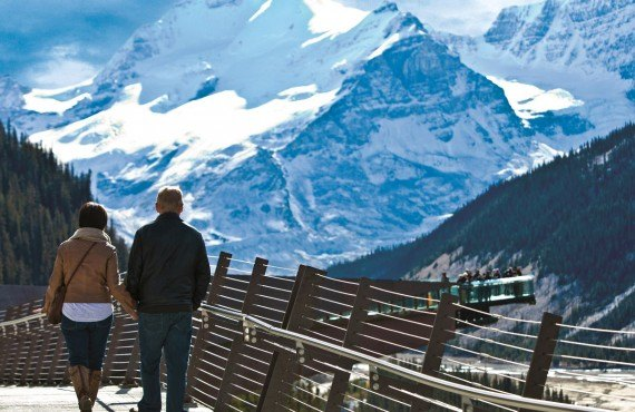 Excursion au-dessus des glaciers