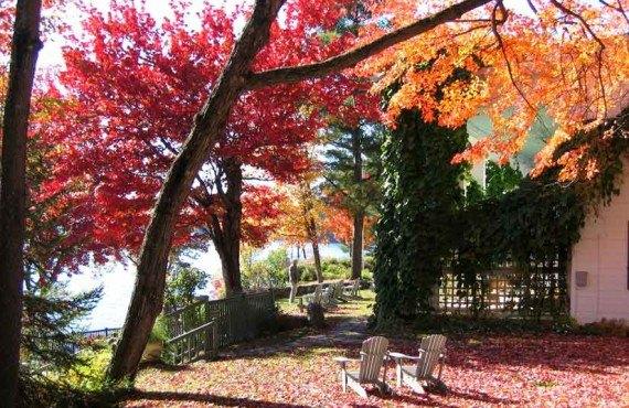 Manoir Hovey en automne