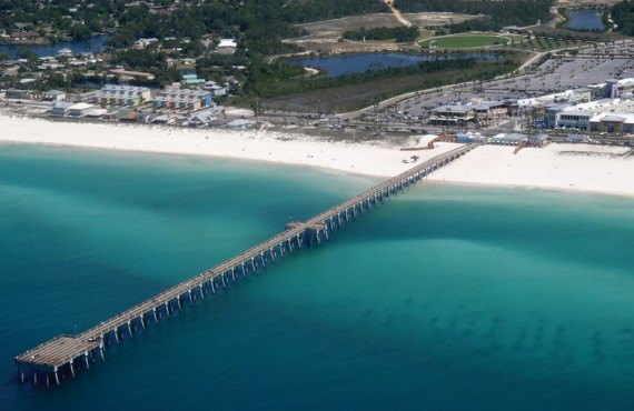 Vue aerienne de Panama City Beach