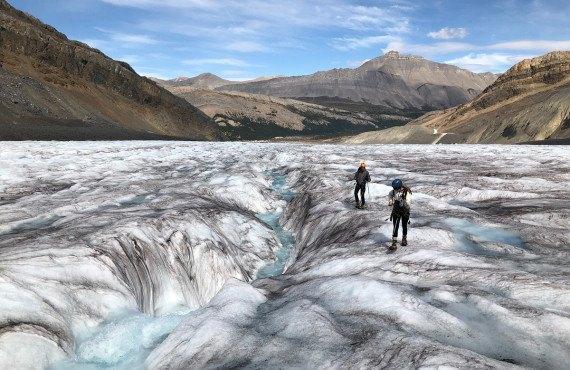 Immense couverture de glace