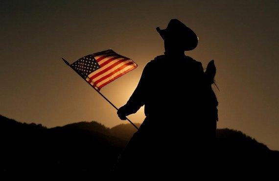 Le décor typique des films western américains