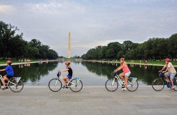 Promenade à vélo dans le parc National Mall