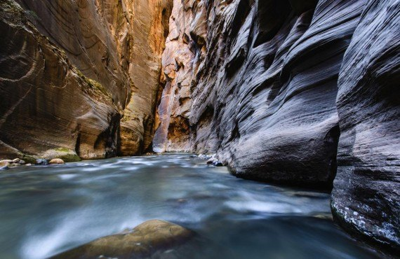 Rando dans les Narrows du Zion Canyon