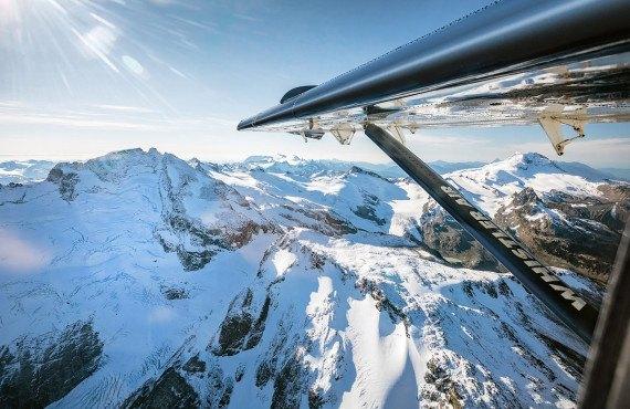 Survol au-dessus des glaciers