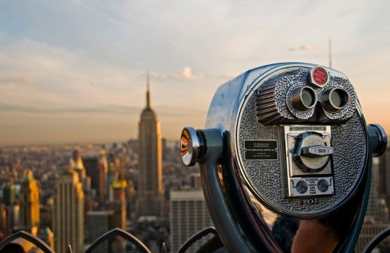 Top of the Rock - Vue sur l'Empire State Building