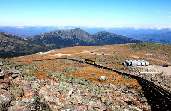 Train Cog Railway sur le Mont Washington