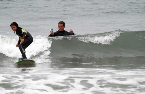 Cours de surf, Manhattan Beach
