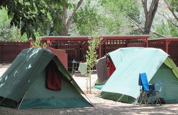 Emplacement pour tentes