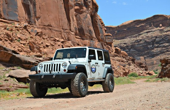 Jeep Wrangler à Canyonlands