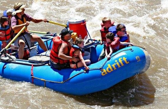 Descnte en rafting, Moab, UT