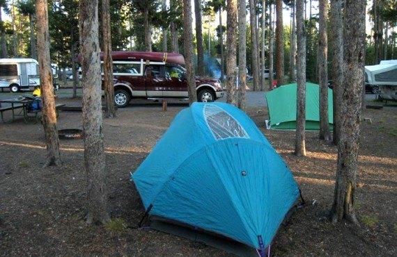 Camping du parc Yellowstone