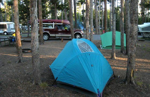 Camping du parc Yellowstone