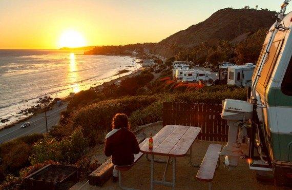 Coucher de soleil à Malibu Beach RV Park