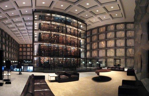 La bibliothèque de l'université Yale