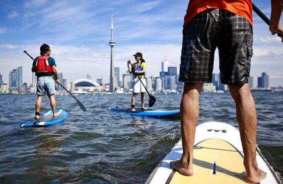 Paddle Board sur le lac Ontario