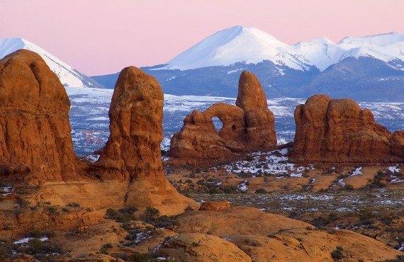 Le parc national des Arches en hiver