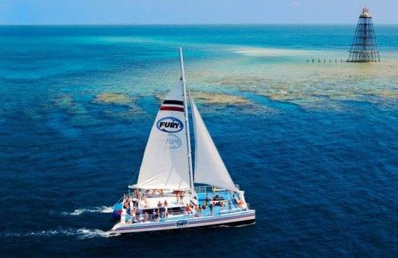 En catamaran, Key West, FL