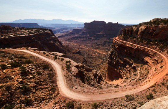 La Shafer trail, Canyonlands