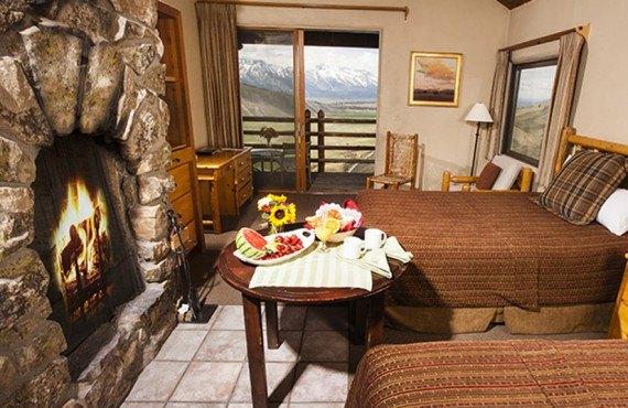 Spring Creek Ranch - Chambre 2 lits avec foyer