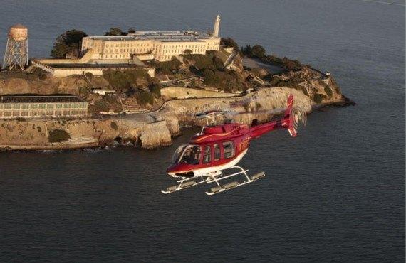 Survol en hélicoptère sur Alcatraz