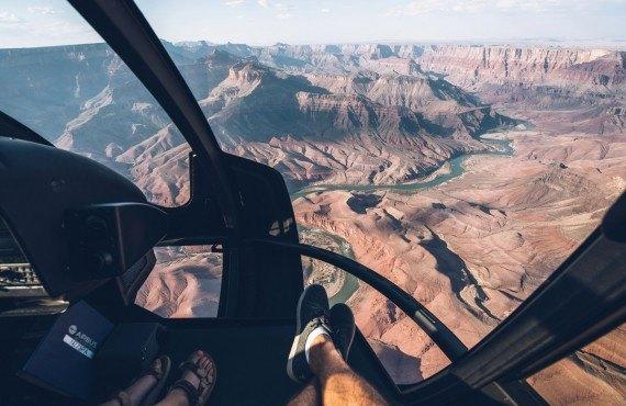 Survol en helicoptere