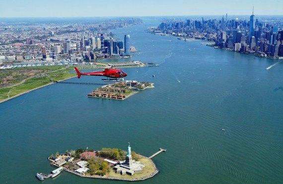 Survol en hélicoptère, Manhattan, NY