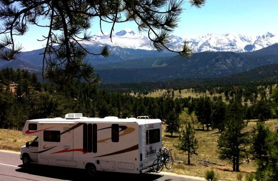 En camping-car au Rocky Mountain NP