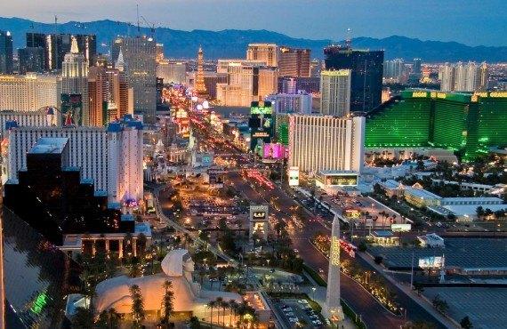Le centre-ville de Las Vegas