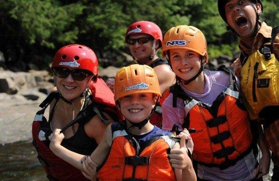 Descente en Rafting - En famille