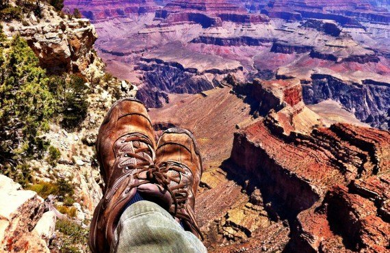 Rando le long de la Rim Trail du Grand Canyon
