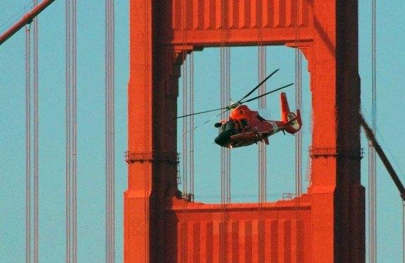 Survol en hélicoptère, CA