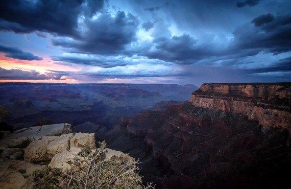 Grand Canyon en soirée