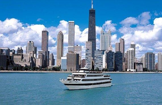 Déjeuner sur le Lac Michigan - Vue panoramique de Chicago