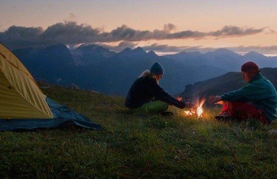 Camping Canyonlands - Feu de camp