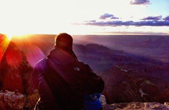 Coucher de soleil à partir de Desert View Point