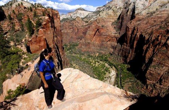 Randonnée pédestre au sommet des Narrows