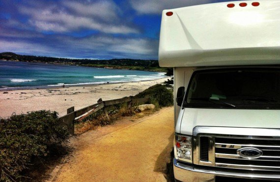 Carmel Beach en camping-car