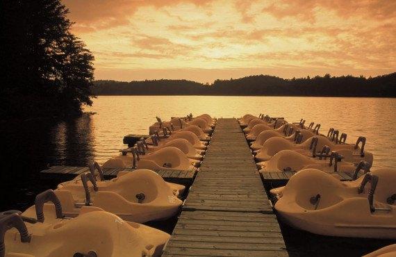 Coucher de soleil dans le parc du Mont Orford